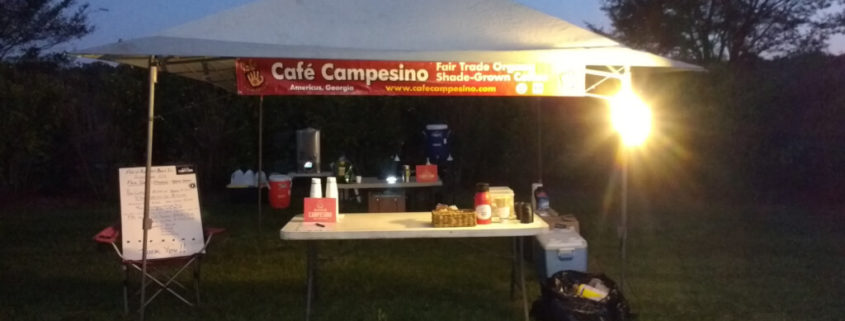 Cafe Campesino BRAG coffee stand