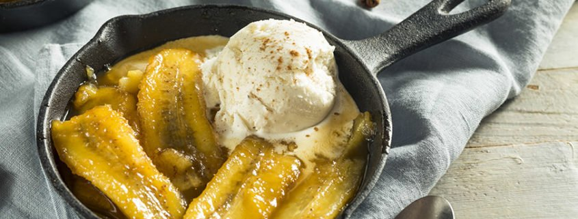 pan of coffee bananas foster