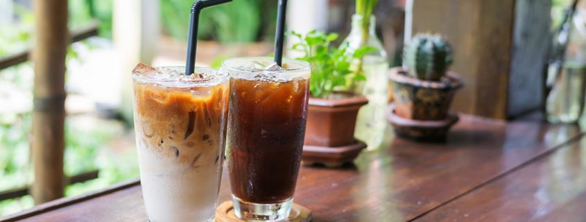 Iced americano and latte made with cold brew espresso