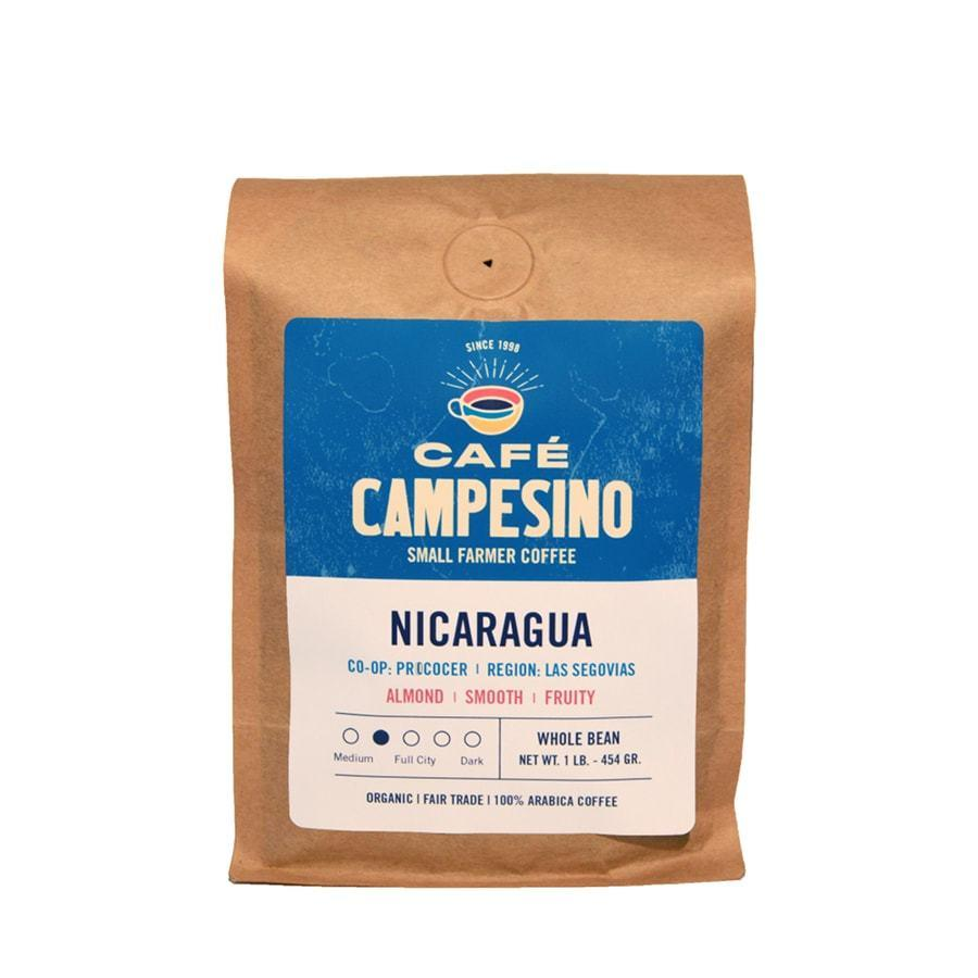Nicaragua coffee with a silky body and fruity flavors.
