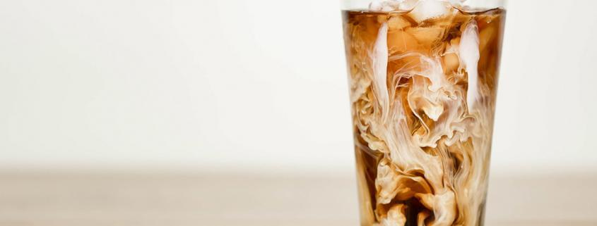 Coconut iced latte with iced espresso