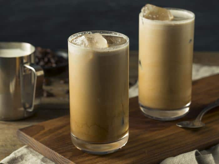 Cafe Campesino Dirty Iced Chai with cold brew espresso