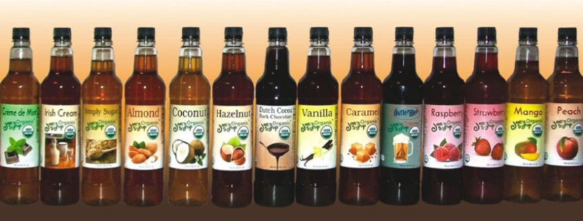 Joes Organic Syrups are available through Cafe Campesino