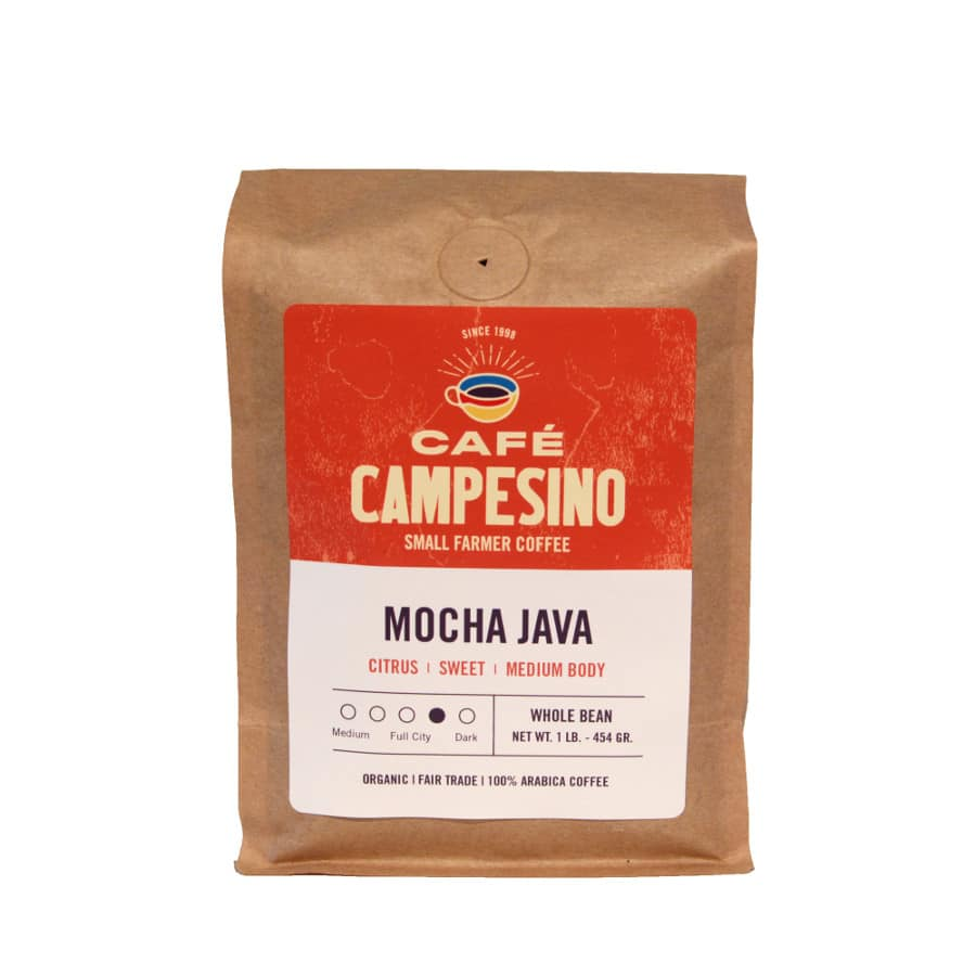 Mocha Java  coffee - one of our staff favorites.