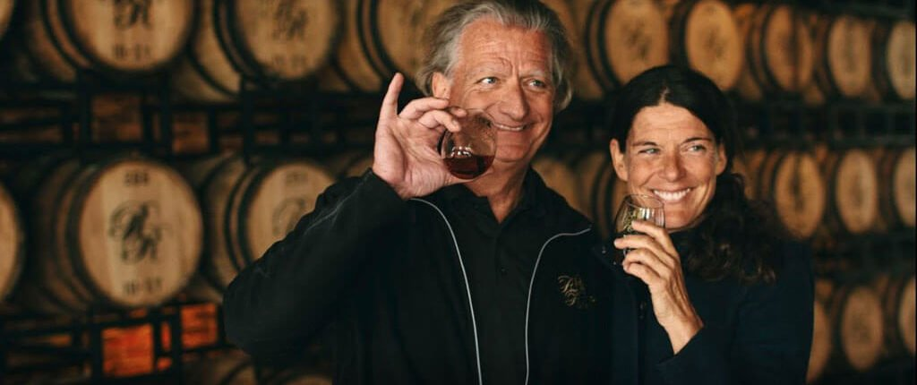 The owners of Richland Rum Erik and Karin Vonk
